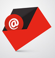 At Sign in Red Envelope - Email Icon vector image