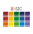 Basic Color Tone vector image vector image