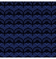 Black and blue lace seamless stripes pattern vector image vector image