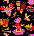 Brazilian Carnival colorful background vector image vector image