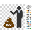 businessman show ico shit icon with bonus vector image vector image