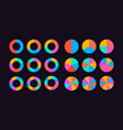 circle segments set vector image vector image