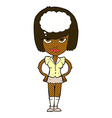 comic cartoon woman thinking vector image vector image