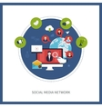 Communication and social media vector image vector image