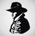 Cowboy Stencil vector image vector image