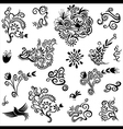 Decorative floral organic natural designs with flo vector image vector image