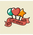 Delicious sweet candies icon vector image