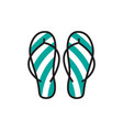flip flop icon design template isolated vector image vector image