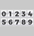 flip numbers counter old mechanical countdown vector image vector image