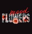 Flowers mood t-shirt print with floral pattern