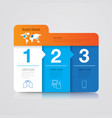 folder infographics design with 3 options vector image vector image