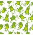 frog seamless pattern cartoon cute frogs kids vector image
