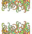 funny doodle fantasy imitation tentacles frame vector image vector image