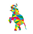 geometric elephant vector image vector image