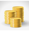 golden coins - abstract finance concept vector image vector image