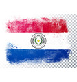 grunge and distressed flag paraguay vector image