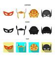 hero and mask symbol vector image