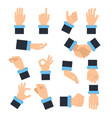 holding hands in different action poses grabbing vector image vector image