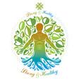 human being standing alternative medicine concept