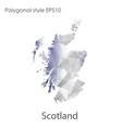 isolated icon scotland map polygonal geometric vector image vector image