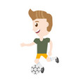 isolated man playing soccer cartoon vector image vector image
