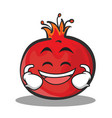 laughing face pomegranate cartoon character style vector image vector image