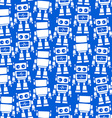 Little robot front and back seamless pattern vector image vector image