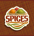 logo for spices vector image vector image