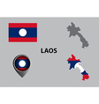 Map of Laos and symbol vector image