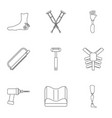 orthopedic icon set outline style vector image vector image