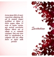 painted leaves greeting card template vector image vector image