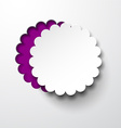 Paper white round flower note vector image