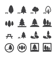 park icon vector image vector image