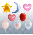 party balloons set vector image vector image