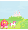 Princess in carriage vector image vector image