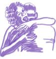 purple lovers vector image vector image