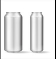 realistic aluminum can on white background vector image vector image