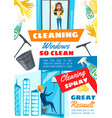 rope access window cleaning service vector image