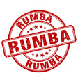 rumba red grunge round vintage rubber stamp vector image vector image