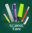 school time composition vector image vector image