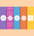 set bright striped seamless patterns vector image
