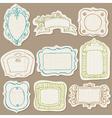 set doodle frames on torn paper vector image