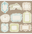 Set of Doodle Frames on torn paper vector image vector image