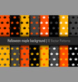 set of patterns halloween maple vector image
