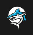 shark esport gaming mascot logo template vector image