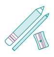 sharpenner school with pencil vector image vector image