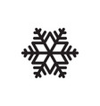 simple black snowflake icon graphic isolated vector image