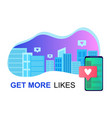 social media in city online friends lifestyle vector image vector image