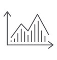 stock chart thin line icon graph and finance vector image vector image
