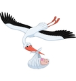 Stork and baby vector image vector image